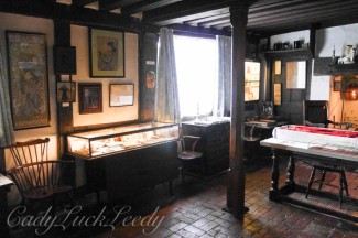 Inside Smallhythe Place, near Tenterden, Kent, UK