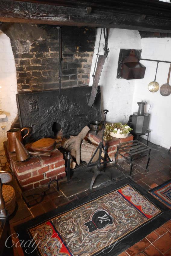 Inside Smallhythe Place, near Tenterden, Kent, UK