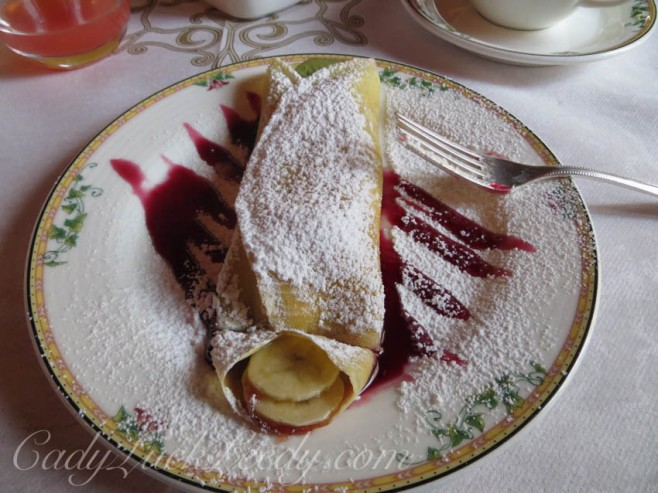 Banana Cherry Crepe in Venice, Italy