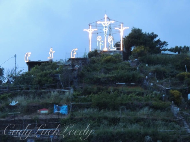 The Crucifixion of Christ, on a Vineyard Hill in Vernazza, Cinque Terre, Italy