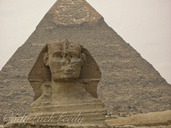 Sphinx and Pyramid of Chephren Cairo, Egypt