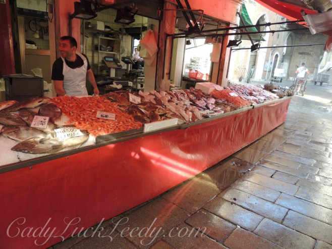 Morning Market in Venice, Italy