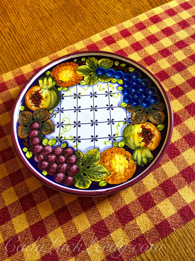 Hand Painted Italian Plate