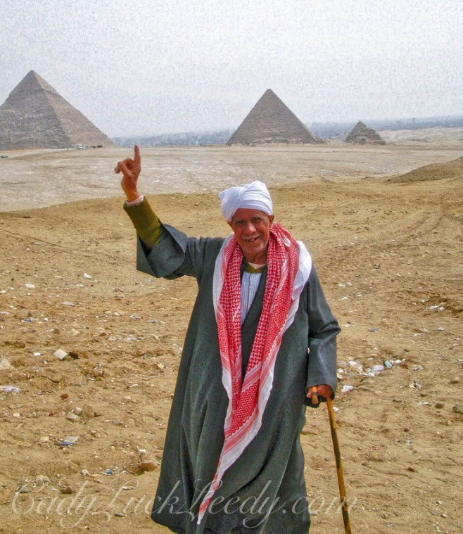 Local at Great Pyramid of Cheops, Cairo, Egypt