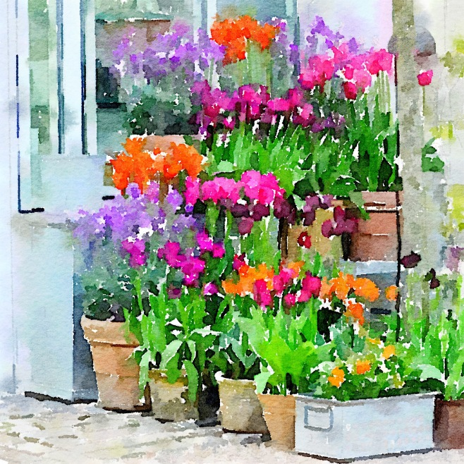 Ready for Spring, Painted in the Waterlogue App