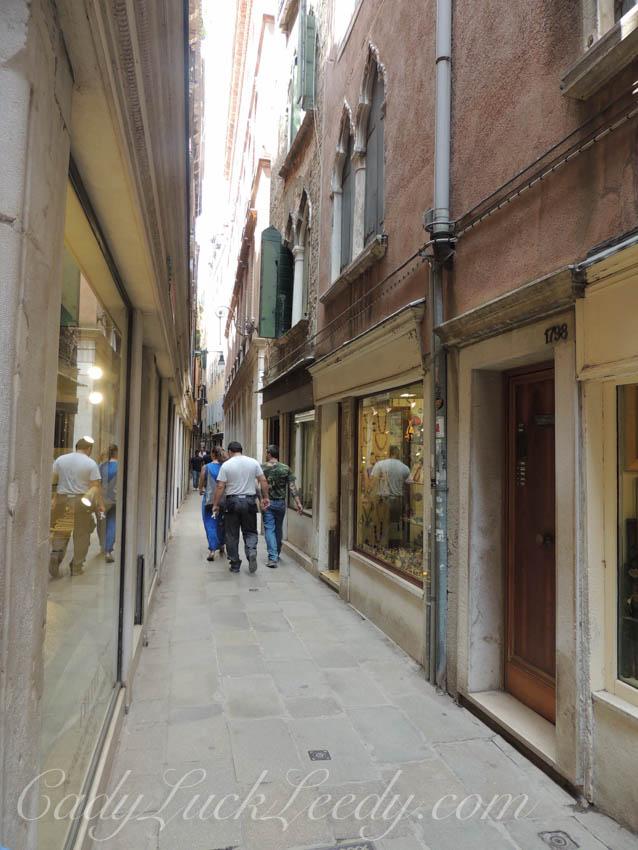Narrow Pathways Between the Buildings in Venice, Italy