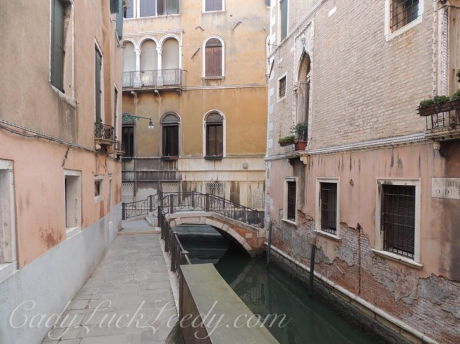 Tickle Me Pink in Venice, Italy