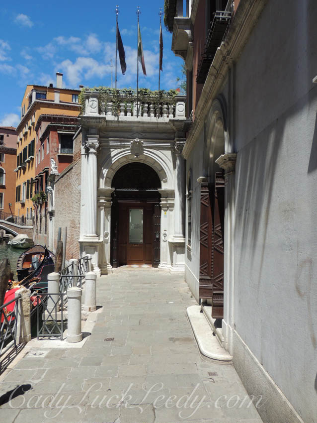 The Stop at the End is a Doorway in Venice, Italy