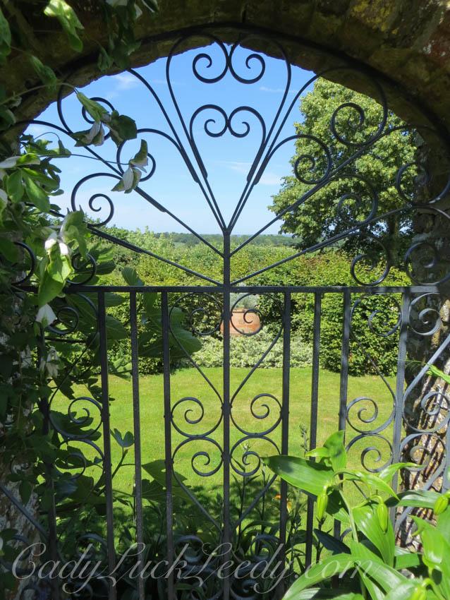 A Garden Gate with Sky Blue at Sissinghurst Garden, Kent, UK
