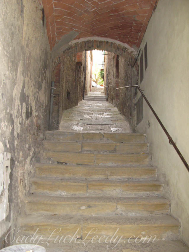 Timberwolfish Walkway in Montepulciano, Italy
