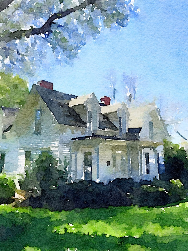 The Icicle Cottage Painted in Waterlogue