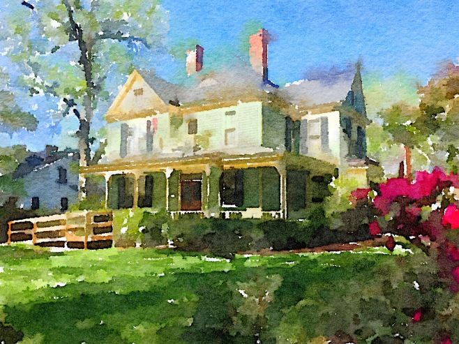 Vinson House Painted in Waterlogue App