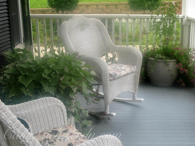 The White Wicker Porch