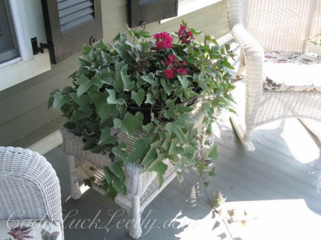 The White Wicker Porch