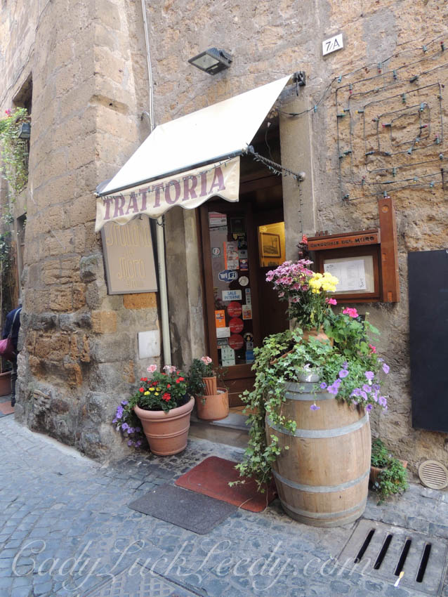 The Main Shopping Area in Orvieto, Italy