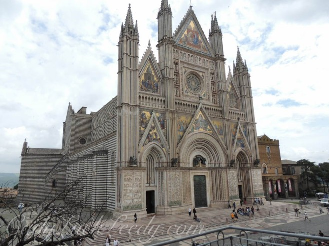 The Duomo in Orvieto, Italy