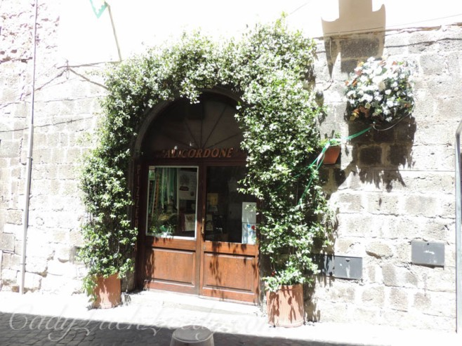 The Swags of Jasmine Over the Doors in Orvieto, Italy