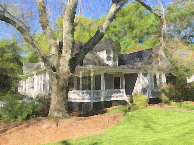 The Caldwell-Sample House Painted in Brushstroke App
