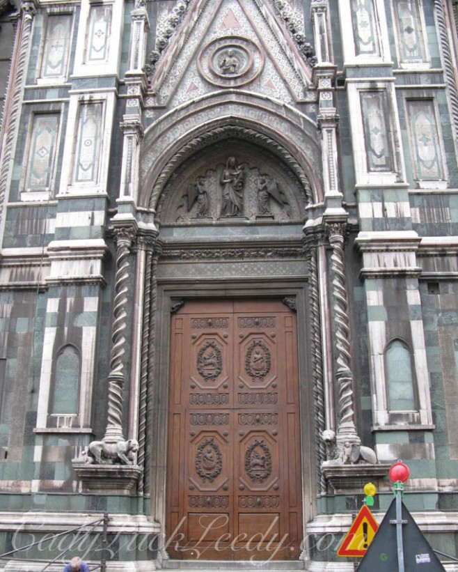 A Medici Door at the Duomo, Florence, Italy