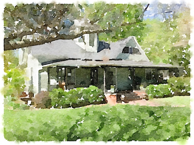 The Caldwell-Sample House Painted in Waterlogue App