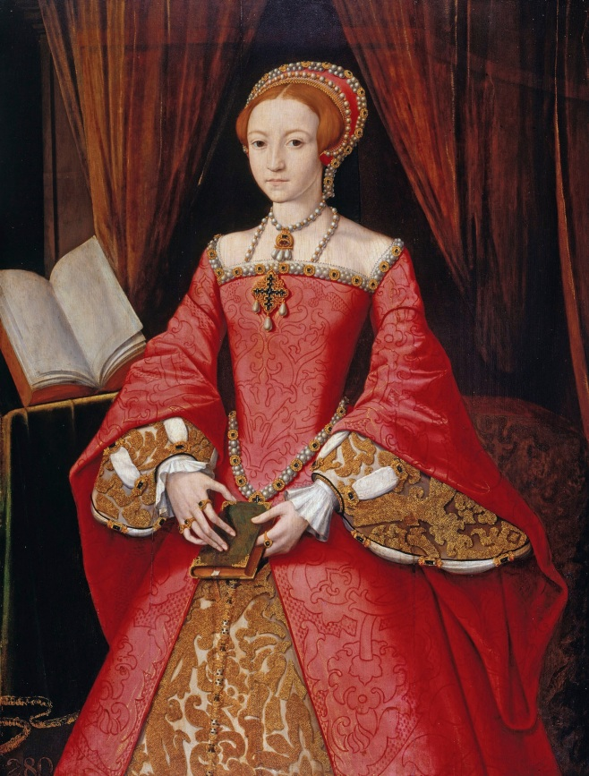 Young Elizabeth I Wearing Exquisite Jewelery