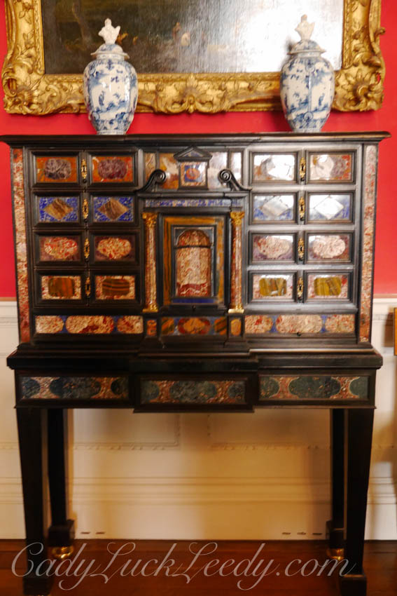 An Ornate Cabinet in the Cabinet Room at Stourhead