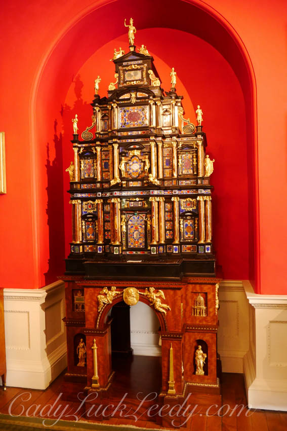 Ornate Cabinet in the Column Room, Stourhead