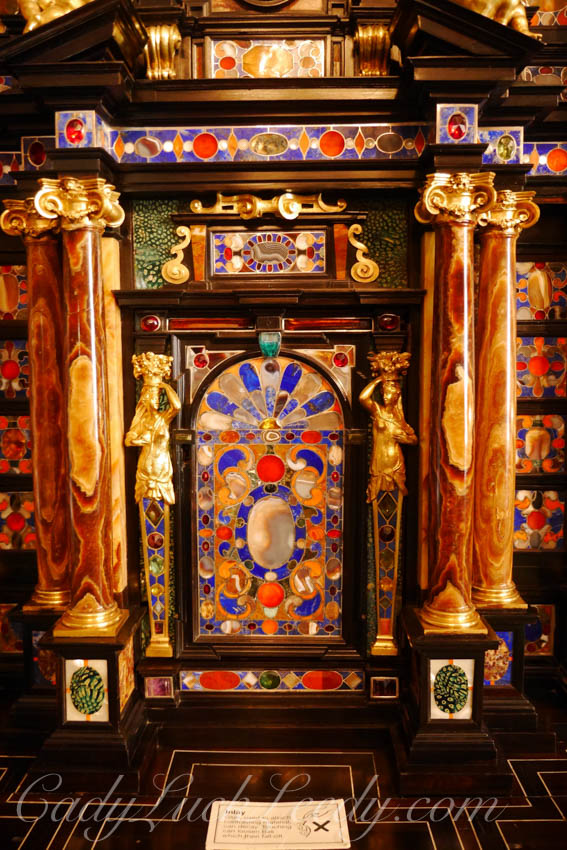 Detail of Ornate Cabinet in the Column Room, Stourhead