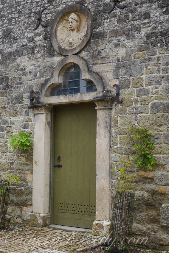 A Close Up of the Limey Green Door, Stourhead