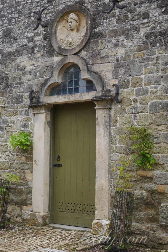 A Close Up of the Limey Green Door, Stourhead
