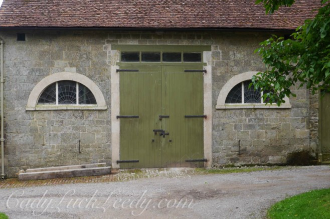 Another Outbuilding with Limey Green Door and Fantastic Windows