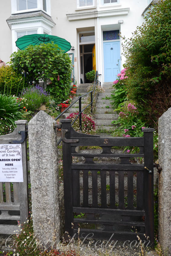 The Gate to the Garden at a Victorian Terraced House, St Ives