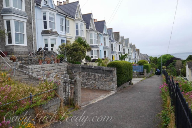 The Victorian Terraces at St Ives, Cornwall
