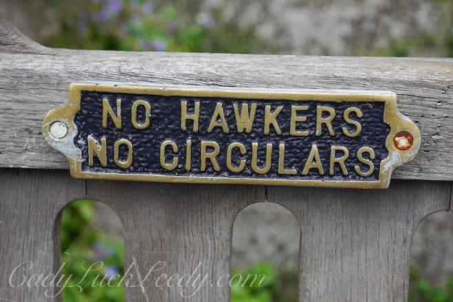No Hawkers No Circulars!