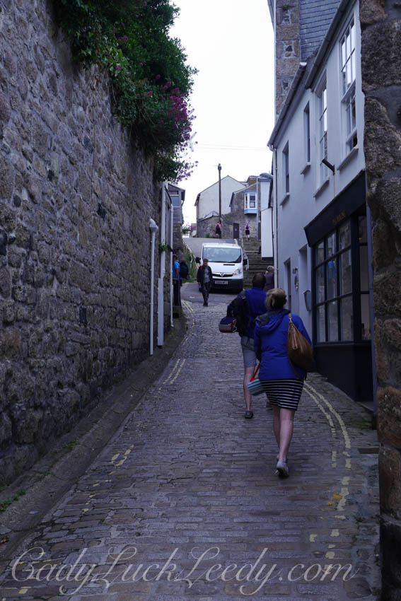 The Main Tourist Walk to Parking in St Ives, Cornwall
