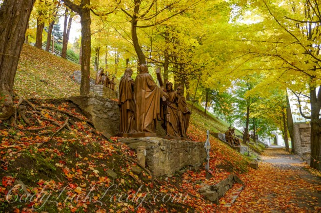 Stations of the Cross Walk, Cathedral of St Anne de Beaupre, Quebec, Canada