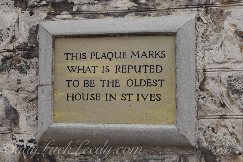 The Oldest House Plaque, St Ives