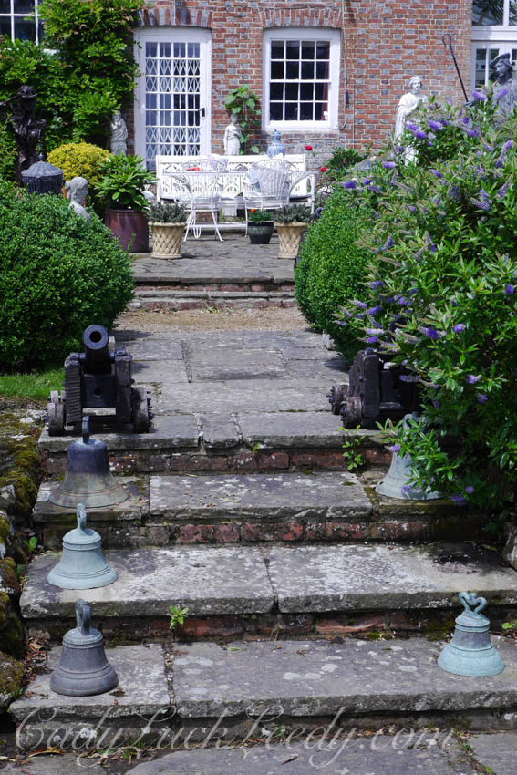 Patio Garden at Cowbeech House, Hailsham, UK