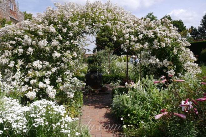 The White Garden at Sissinghurst Gardens