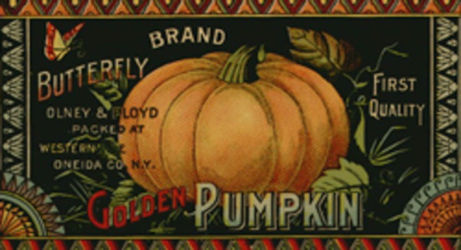Vintage Pumpkin Label