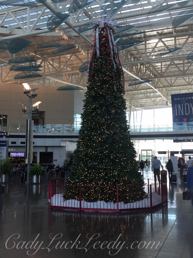 Christmas at Indianapolis Airport