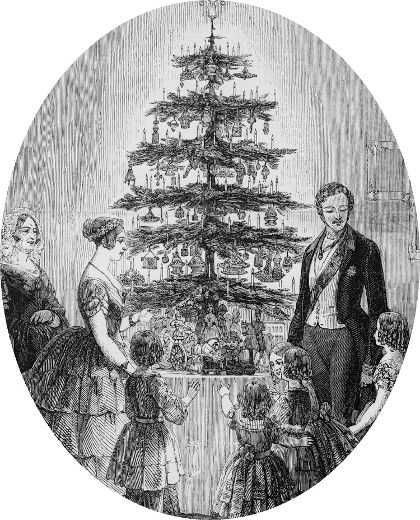 Queen Victoria and Prince Albert Decorating the Christmas Tree