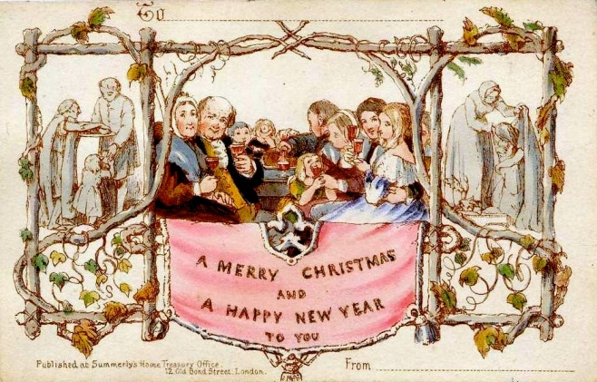First Christmas Card Designed by JC Horsley