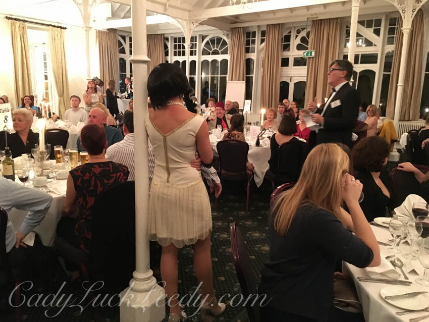 The Actors at Agatha Christie Dinner Mystery, Old Swan Hotel, Harrogate, UK