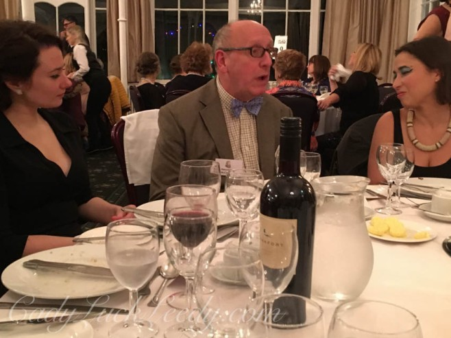 Actors and Guests at Agatha Christie Dinner Mystery, Old Swan Hotel, Harrogate, UK