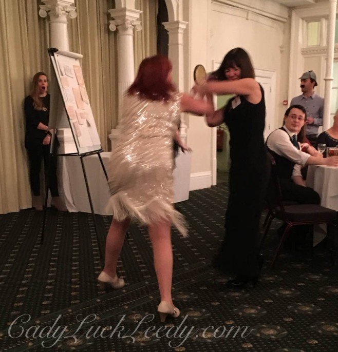 The Big Fight Skit during the Agatha Christie Murder Mystery Dinner