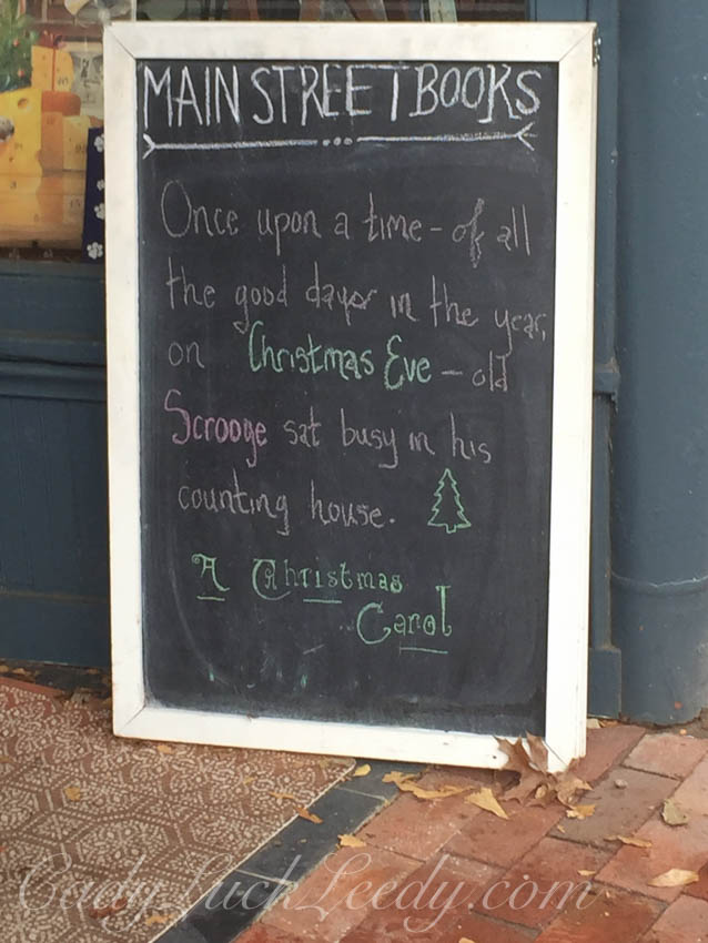 Sign at Books